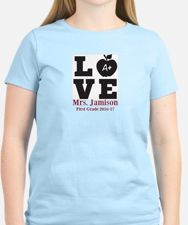 Love for My Teacher Personalized T-Shirt