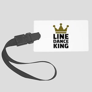 Line dance king Large Luggage Tag