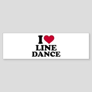 I love line dance Sticker (Bumper)