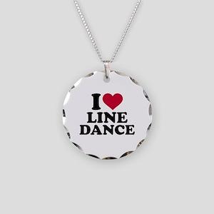 I love line dance Necklace Circle Charm