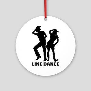 Line dance Round Ornament
