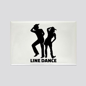 Line dance Rectangle Magnet