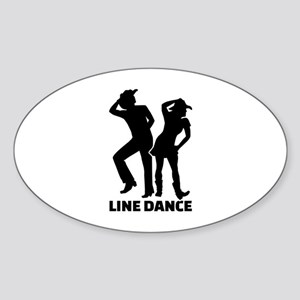 Line dance Sticker (Oval)