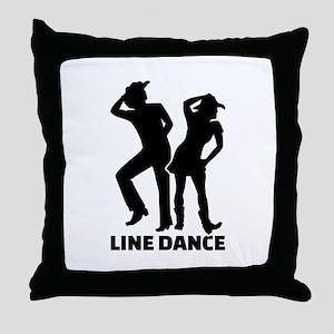 Line dance Throw Pillow