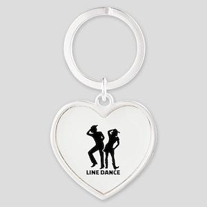Line dance Heart Keychain