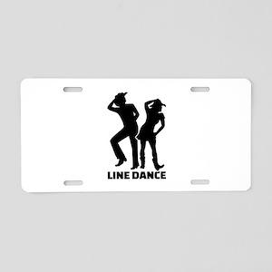Line dance Aluminum License Plate