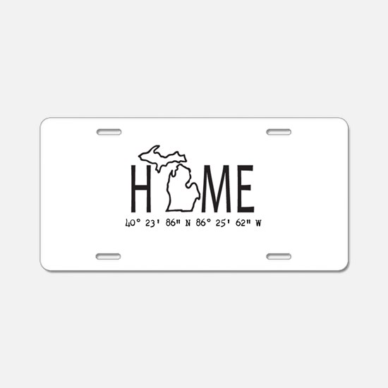 Michigan is My Home Coordinates Personalized Alumi