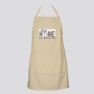 Michigan is My Home Coordinates Personalized Apron