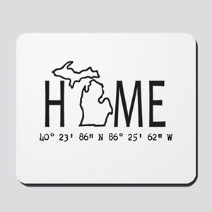 Michigan is My Home Coordinates Personalized Mouse