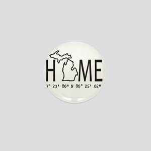 Michigan is My Home Coordinates Personalized Mini