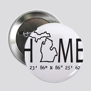 """Michigan is My Home Coordinates Personalized 2.25"""""""