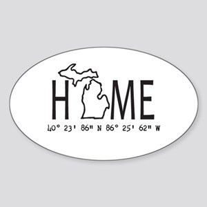 Michigan is My Home Coordinates Personalized Stick