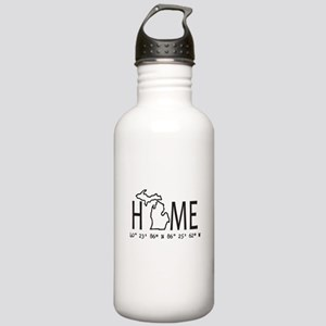 Michigan is My Home Coordinates Personalized Water