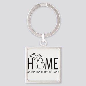 State of michigan gifts cafepress michigan is my home coordinates personalized keych negle Choice Image