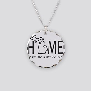Michigan is My Home Coordinates Personalized Neckl