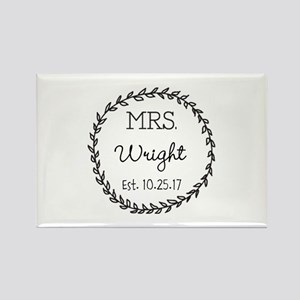 Mrs. Right Personalized Wedding Magnets