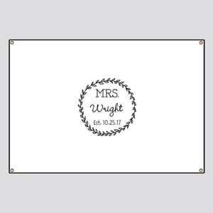 Mrs. Right Personalized Wedding Banner