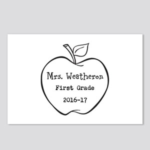 Personalized Teachers Apple Postcards (Package of