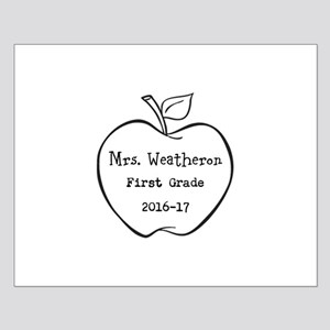 Personalized Teachers Apple Posters