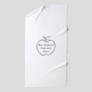 Personalized Teachers Apple Beach Towel