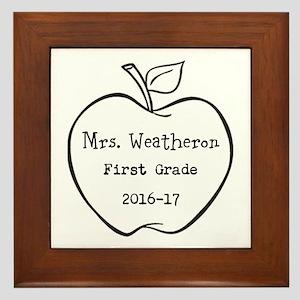 Personalized Teachers Apple Framed Tile