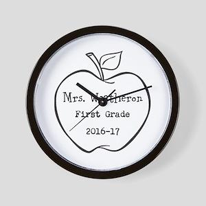 Personalized Teachers Apple Wall Clock