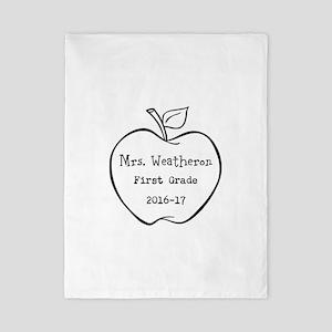 Personalized Teachers Apple Twin Duvet