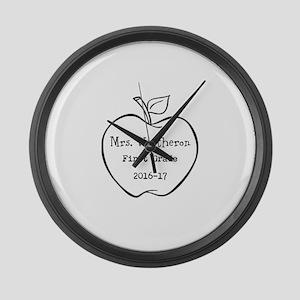 Personalized Teachers Apple Large Wall Clock