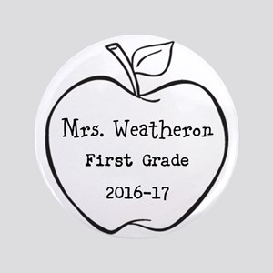 Personalized Teachers Apple Button