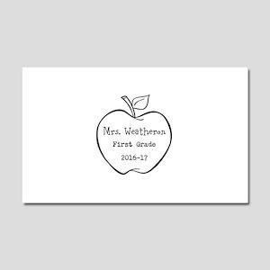 Personalized Teachers Apple Car Magnet 20 x 12