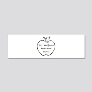 Personalized Teachers Apple Car Magnet 10 x 3
