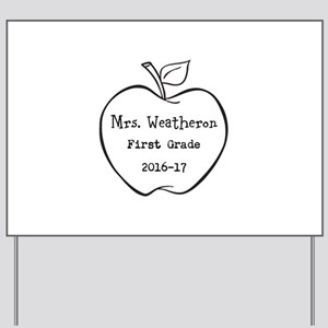 Personalized Teachers Apple Yard Sign