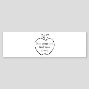 Personalized Teachers Apple Bumper Sticker