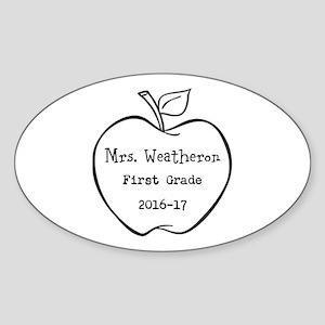 Personalized Teachers Apple Sticker