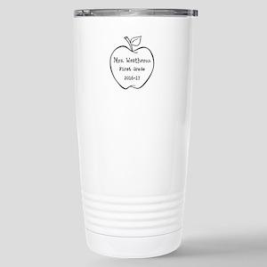 Personalized Teachers Apple Travel Mug
