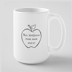 Personalized Teachers Apple Mugs