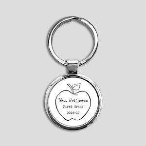 Personalized Teachers Apple Keychains