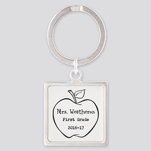 Personalized Teachers Apple Keychains