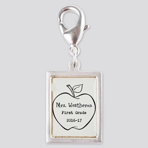 Personalized Teachers Apple Charms