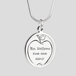 Personalized Teachers Apple Necklaces
