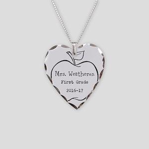 Personalized Teachers Apple Necklace
