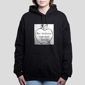 Personalized Teachers Apple Women's Hooded Sweatsh