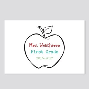 Colorized Custom Teachers Apple Postcards (Package