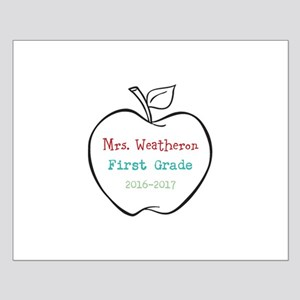 Colorized Custom Teachers Apple Posters