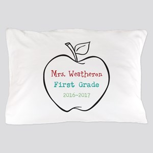 Colorized Custom Teachers Apple Pillow Case