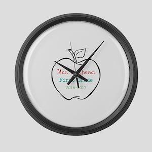 Colorized Custom Teachers Apple Large Wall Clock