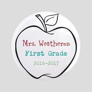 Colorized Custom Teachers Apple Button