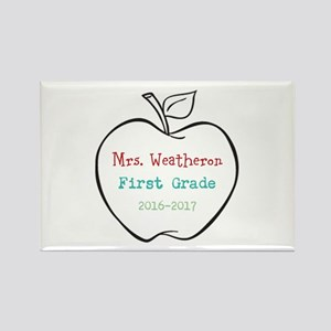 Colorized Custom Teachers Apple Magnets