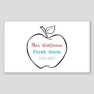 Colorized Custom Teachers Apple Sticker