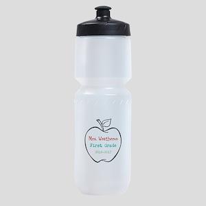 Colorized Custom Teachers Apple Sports Bottle
